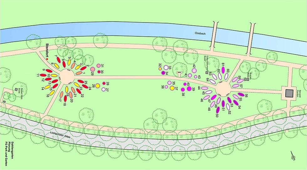 Dahliengarten Baden-Baden Plan 2021