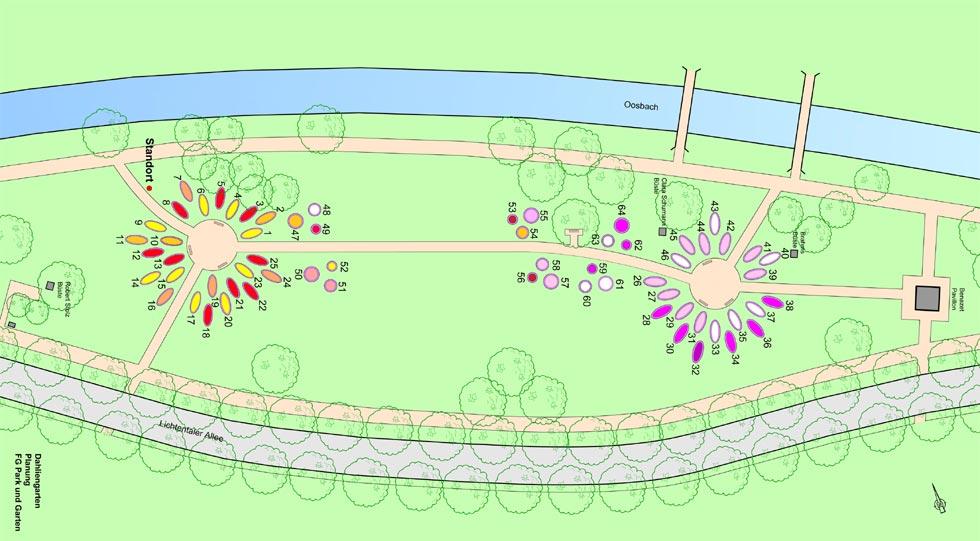 Dahliengarten Baden-Baden Plan 2018